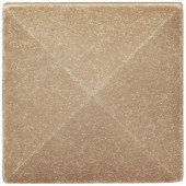 2 in x 2 in. Cast Stone Pyramid Dot Travertine Tile (10 pieces / case) - Discontinued