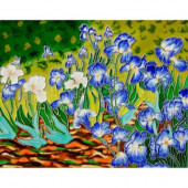 Van Gogh, Irises Trivet and Wall Accent 11 in. x 14 in. Tile (felt back)-DISCONTINUED