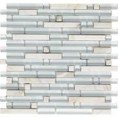 Varietals Viognier-1653 Stone And Glass Blend 12 in. x 12 in. Mesh Mounted Floor & Wall Tile (5 sq. ft.)