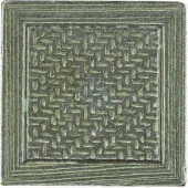 Montagna Nickel 2 in. x 2 in. Metal Resin Basketweave Decorative Floor/Wall Tile