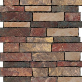 Stratford 12 in. x 12 in. Multi-Color Porcelain Mesh-Mounted Mosaic Tile