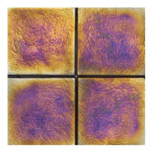 Cristallo Glass Black Opal 4 in. x 4 in. Glass Accent Wall Tile