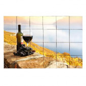 Wine1 36 in. x 24 in. Tumbled Marble Tiles (6 sq. ft. /case)