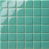 12.5 in. x 12.5 in. Capri Tormalina Glossy Glass Tile-DISCONTINUED