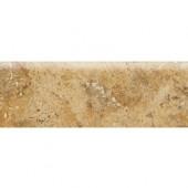 Heathland Amber 2 in. x 6 in. Glazed Ceramic Bullnose Wall Tile