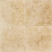 Travertine Turco Classico 9 in. x 9 in. Natural Stone Floor and Wall Tile (9 sq. ft. / case)-DISCONTINUED