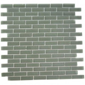 Contempo Seafoam Brick 12 in. x12 in. x 8 mm Glass Floor and Wall Tile