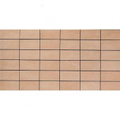 Avila Beige 12 in. x 24 in. x 8 mm Porcelain Mosaic Floor and Wall Tile-DISCONTINUED