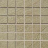 Terra Brazilian Slate 12 in. x 12 in. Porcelain Mosaic Floor and Wall Tile