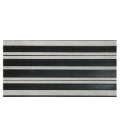 Identity Black and White 12 in. x 24 in. Porcelain Decorative Accent Floor and Wall Tile-DISCONTINUED