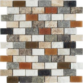 Maximo Stone 12 in. x 12 in. Multicolor Natural Stone Mosaic Tile-DISCONTINUED