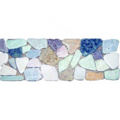 Rock Strip 4 in. x 12 in. Tumbled Marble Listello Floor and Wall Tile