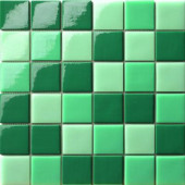 12.5 in. x 12.5 in. Capri Tormalina Mix Glossy Glass Tile-DISCONTINUED