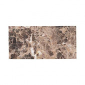 Emperador 3 in. x 6 in. Honed Marble Floor/Wall Tile (8pieces/1 sq. ft./1pack)