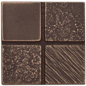 2 in. x 2 in. Cast Metal Mosaic Dot Classic Bronze Tile (10 pieces / case) - Discontinued