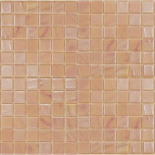 Gemstonez Rose Quartz-1302 Mosaic Recycled Glass 12 in. x 12 in. Mesh Mounted Floor & Wall Tile (5 sq. ft.)