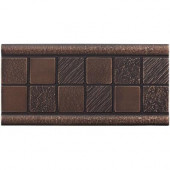 3 in. x 6 in. Cast Metal Mosaic Deco Dark Oil Rubbed Bronze Tile (10 pieces / case) - Discontinued
