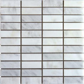 Greecian White 12 in. x 12 in. x 10 mm Honed Marble Mesh-Mounted Mosaic Tile (10 sq. ft. / case)