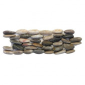 Standing Pebbles Corolla 4 in. x 12 in. Natural Stone Pebble Mosaic Rock Wall Tile (5 sq. ft. / case)