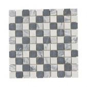 Carrara Mix 12 in. x 12 in. x 8 mm Marble Mosaic Floor/Wall Tile