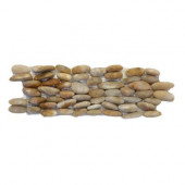 Standing Pebbles Crown 4 in. x 12 in. Natural Stone Pebble Wall Tile (5 sq. ft./case)