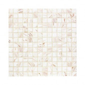 Pearl Glaze 12 in. x 12 in. x 4mm Glass Mosaic Wall Tile
