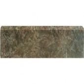 Craterlake Bamboo 18 in. x 3 in. Glazed Ceramic Single Bullnose Tile-DISCONTINUED