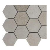 Crema Marfil Hexagon Polished Marble Floor and Wall Tile Sample