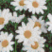 Daisy Pendant 24 in. x 24 in. Glass Wall Light Residential Floor Mosaic Tile (4 Indv Sections Case)