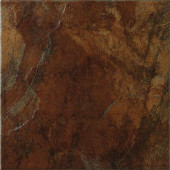 Imperial Slate 12 in. x 12 in. Rust Ceramic Floor and Wall Tile (14.53 sq. ft./case)