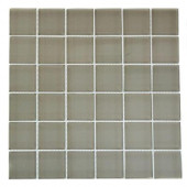 Contempo Natural White Polished 12 in. x 12 in. x 8 mm Glass Floor and Wall Tile
