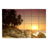 Beach2 36 in. x 24 in. Tumbled Marble Tiles (6 sq. ft. /case)