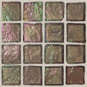 Egyptian Glass Myrrh 12 in. x 12 in. x 6 mm Glass Face-Mounted Mosaic Wall Tile