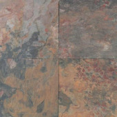 Natural Stone Collection Sunset Glory 16 in. x 16 in. Slate Floor and Wall Tile (10.68 sq. ft. / case)