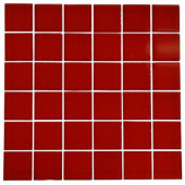 Contempo Lipstick Red Polished 12 in. x 12 in. x 8 mm Glass Floor and Wall Tile