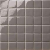 12.5 in. x 12.5 in. Capri Grigio Dark Glossy Glass Tile-DISCONTINUED
