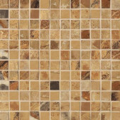 Jade 13 in. x 13 in. x 8-1/2 mm Ochre Porcelain Mesh-Mounted Mosaic Floor and Wall Tile