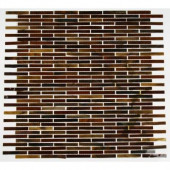 Glass Mosaic 12 in. x 12 in. x 8 mm Floor and Wall Tile