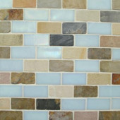 Edgewater 10-5/8 in. x 10-5/8 in. Summerland Mosaic Tile-DISCONTINUED