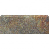 Stratford Bamboo 3 in. x 12 in. Ceramic Bullnose Floor & Wall Tile-DISCONTINUED