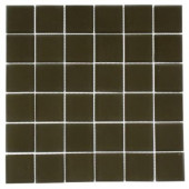 Contempo Khaki Frosted 12 in. x 12 in. x 8 mm Glass Floor and Wall Tile