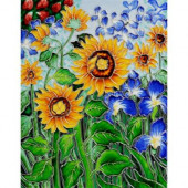 Van Gogh, Sunflowers and Irises Trivet and Wall Accent 11 in. x 14 in. Tile (felt back)-DISCONTINUED