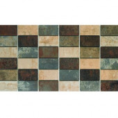 Argos 13 in. x 24 in. Porcelain Mesh-Mounted Mosaic Tile-DISCONTINUED