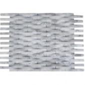 3D Reflex White Carrera 11.5 in. x 9 in. x 8 mm Wall Tile