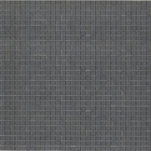 12.8 in. x 12.8 in. Venice Gray Smoke Glossy Glass Tile-DISCONTINUED