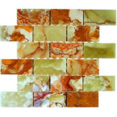 12 in. x 12 in. Marble Mosaic Floor and Wall Tile-DISCONTINUED