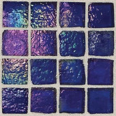 Egyptian Glass Lapis 12 in. x 12 in. x 6 mm Glass Face-Mounted Mosaic Wall Tile