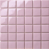 12.5 in. x 12.5 in. Capri Rosa Glossy Glass Tile-DISCONTINUED