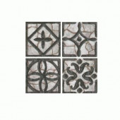 Fashion Accents Wrought Iron/Gray 2 in. x 2 in. Ceramic Accent Wall Tile