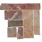 Stratford 4 in. x 4 in. Multicolor Porcelain Corner Floor and Wall Tile-DISCONTINUED